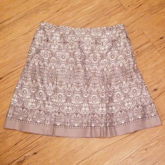 The LOFT: Soft pleated grey a line skirt